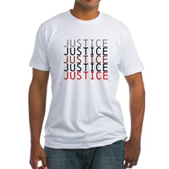 OYOOS Political Justice design Fitted T-Shirt