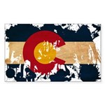 Colorado Flag Sticker (Rectangle 10 pk)
