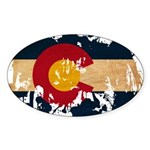 Colorado Flag Sticker (Oval 50 pk)