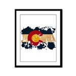 Colorado Flag Framed Panel Print