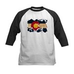Colorado Flag Kids Baseball Jersey