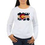 Colorado Flag Women's Long Sleeve T-Shirt