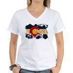 Colorado Flag Women's V-Neck T-Shirt