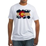 Colorado Flag Fitted T-Shirt