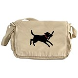 Black Labrador Retriever Messenger Bag