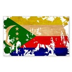 Comoros Flag Sticker (Rectangle 10 pk)