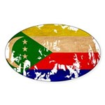 Comoros Flag Sticker (Oval 10 pk)
