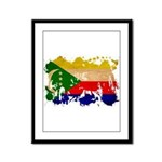 Comoros Flag Framed Panel Print