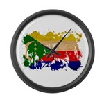 Comoros Flag Large Wall Clock