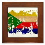 Comoros Flag Framed Tile