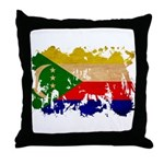 Comoros Flag Throw Pillow