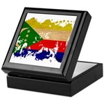 Comoros Flag Keepsake Box