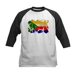 Comoros Flag Kids Baseball Jersey