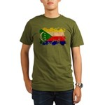 Comoros Flag Organic Men's T-Shirt (dark)