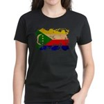 Comoros Flag Women's Dark T-Shirt