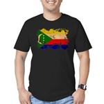 Comoros Flag Men's Fitted T-Shirt (dark)