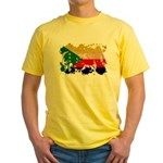 Comoros Flag Yellow T-Shirt