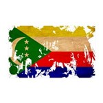 Comoros Flag 38.5 x 24.5 Wall Peel
