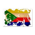 Comoros Flag Car Magnet 20 x 12