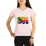 Comoros Flag Performance Dry T-Shirt
