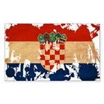 Croatia Flag Sticker (Rectangle 10 pk)