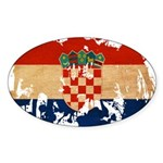 Croatia Flag Sticker (Oval 50 pk)