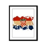 Croatia Flag Framed Panel Print