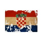 Croatia Flag Rectangle Magnet (10 pack)