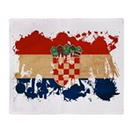 Croatia Flag Throw Blanket