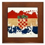Croatia Flag Framed Tile