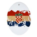 Croatia Flag Ornament (Oval)
