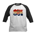 Croatia Flag Kids Baseball Jersey
