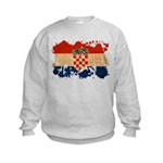 Croatia Flag Kids Sweatshirt