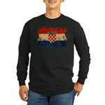 Croatia Flag Long Sleeve Dark T-Shirt