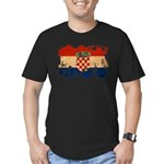 Croatia Flag Men's Fitted T-Shirt (dark)