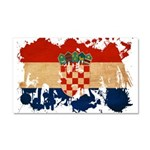 Croatia Flag Car Magnet 20 x 12