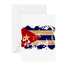 Cuba Flag Greeting Cards (Pk of 10)