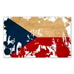 Czech Republic Flag Sticker (Rectangle 10 pk)
