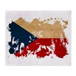 Czech Republic Flag Throw Blanket