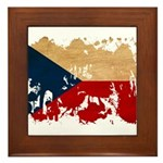 Czech Republic Flag Framed Tile