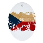Czech Republic Flag Ornament (Oval)