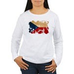 Czech Republic Flag Women's Long Sleeve T-Shirt