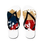 Czech Republic Flag Flip Flops