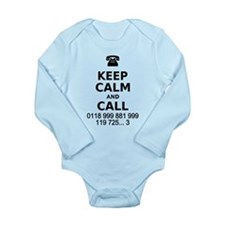 Keep Calm and Call Long Sleeve Infant Bodysuit