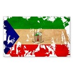 Equatorial Guinea Flag Sticker (Rectangle 10 pk)