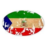 Equatorial Guinea Flag Sticker (Oval)