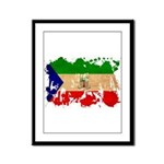Equatorial Guinea Flag Framed Panel Print