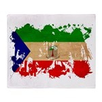 Equatorial Guinea Flag Throw Blanket