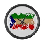Equatorial Guinea Flag Large Wall Clock