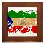 Equatorial Guinea Flag Framed Tile